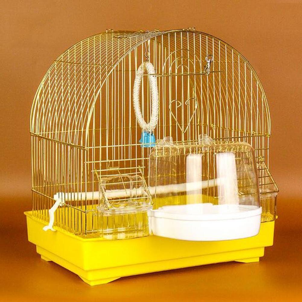 JiaYue Luxury100 de Alta Temperatura de Cromo Metal Jaulas para Pájaros de Oro de Color Pequeño 33x23x36CM, Golden Color, Set 3