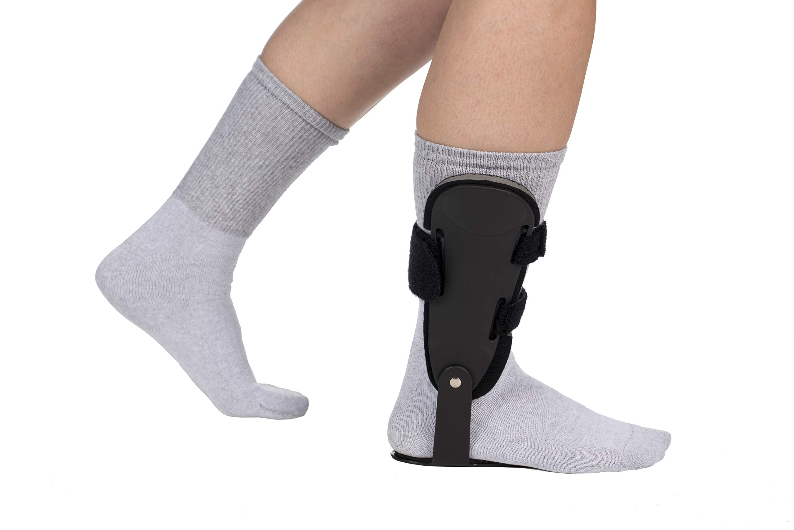 FitPro Adjustable Hinged Ankle Brace with Contoured Foot Plate- Left, X-Small, Amazon Exclusive Brand