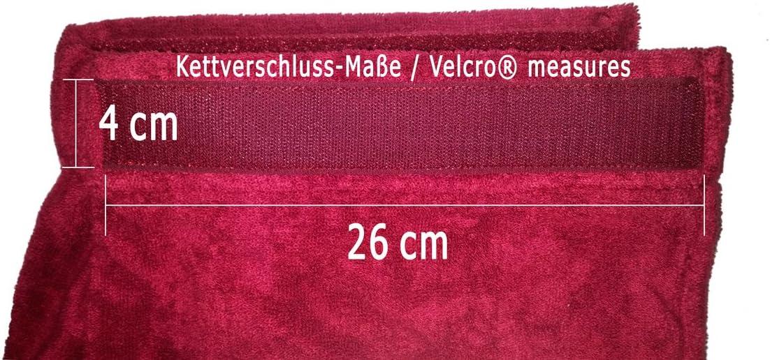 """Men/'s Long 30/"""" Terry Bath Shower Wrap 100/% Cotton Burgundy"""