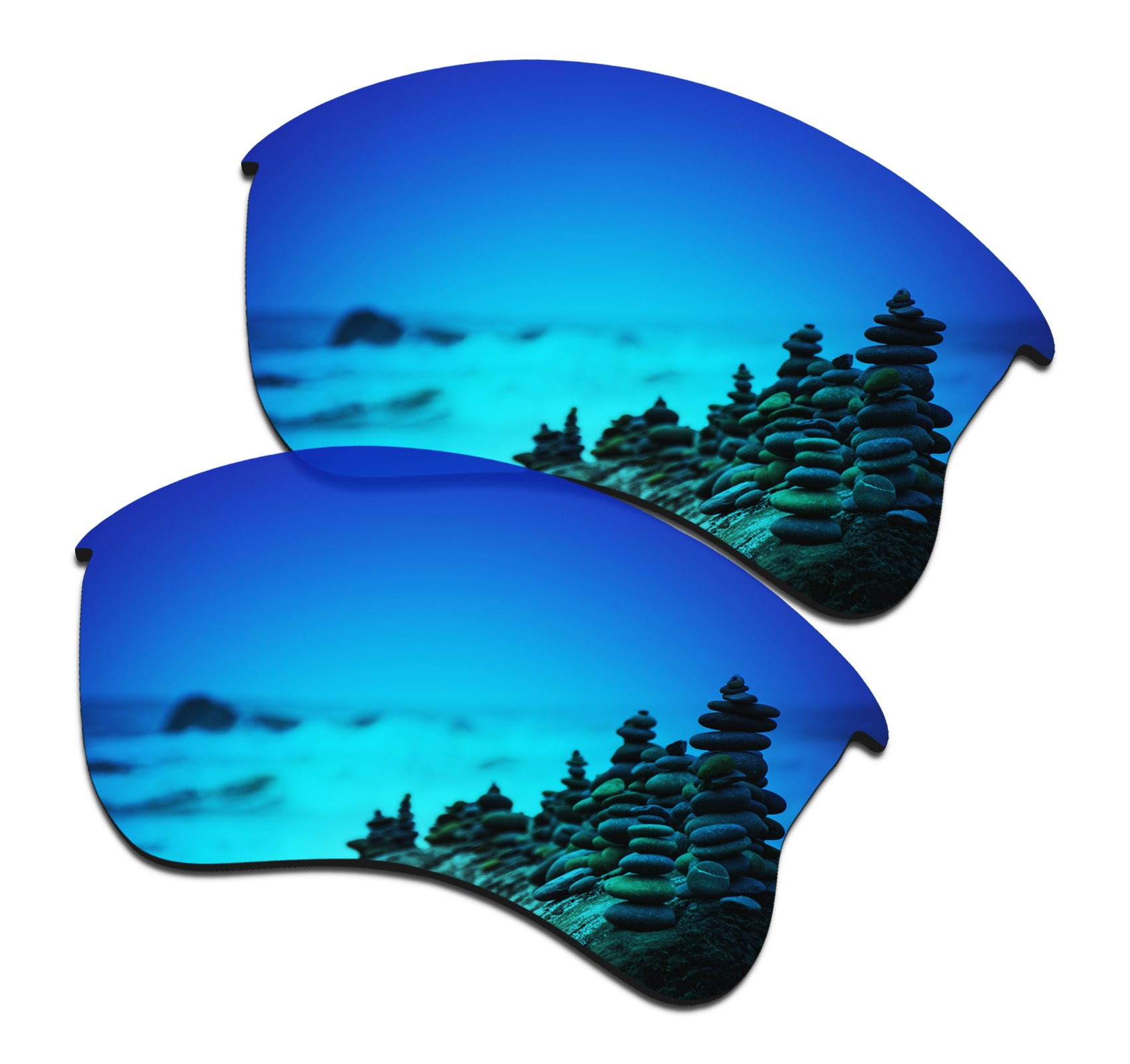 SmartVLT Men's Ice Blue Replacement Lenses for Oakley Flak Jacket XLJ Sunglass by SmartVLT