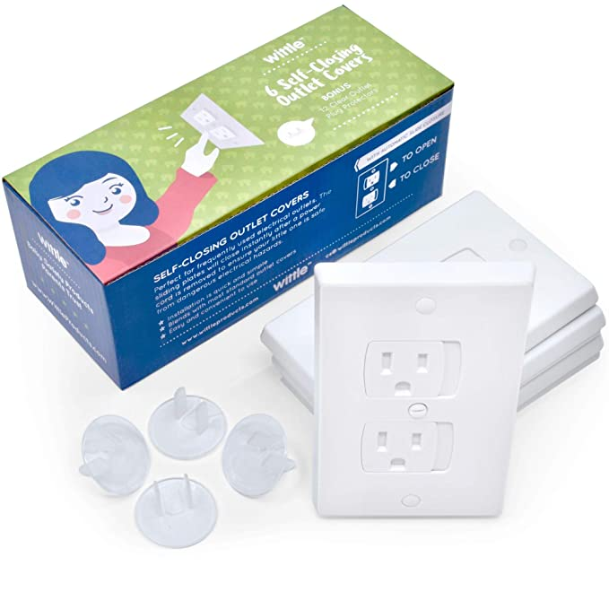 TXIN Set of 18 Outlet Plug Cover Baby Child Proofing Electric Safety Socket Cover Plug Protector Green White Orange