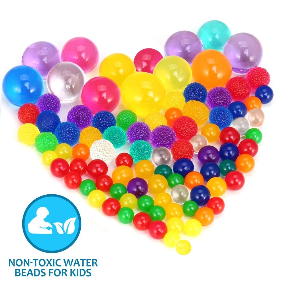 Water Beads 120000 Pcs Icy Soft Water Gel Orbeez Beads Pearls for Vase Filler Water Beads Pool, Wedding Centerpiece, Kids Tactile Sensory Toys, Party and Home Decoration