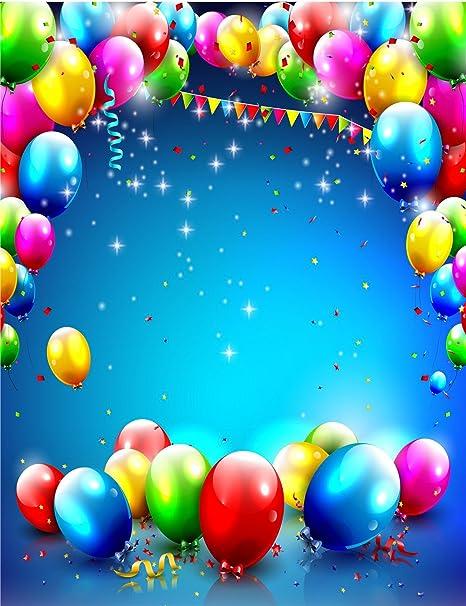 amazon com 5x6 5ft 150x200cm happy birthday background blue