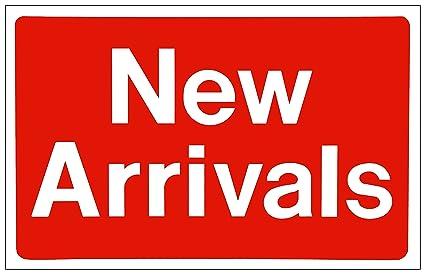 4d5103facb6d Amazon.com : Sale sign NEW ARRIVALS Business sign Store Discount ...