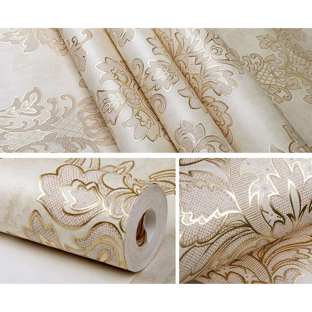 Amazon.com: Moderno papel pintado Damasco de lujo de metal ...