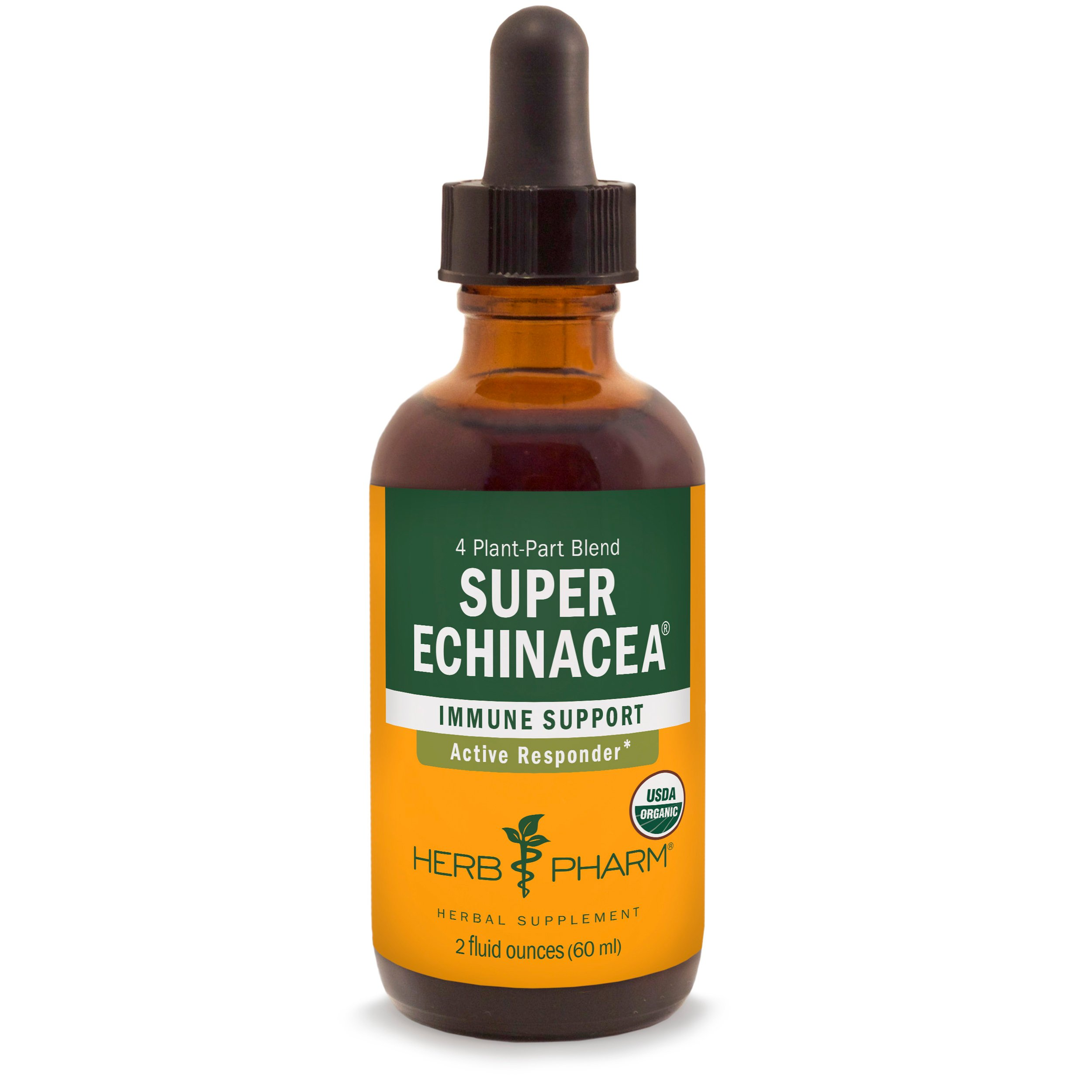 Herb Pharm Certified Organic Super Echinacea Extract for Active Immune System Support - 2 Ounce