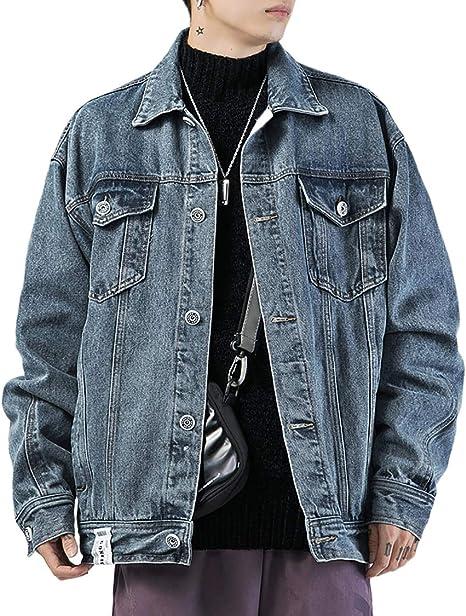 デニムジャケット メンズ アウター ジージャン カジュアル ファッション 大きいサイズ 春秋 綿 上着 ゆったり Gジャン