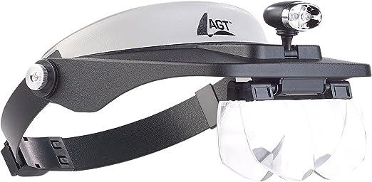 2-LED Kopflupe Stirnlupe Brillenlupe Lupenbrille Lupe Licht 5 Vergrößerungs