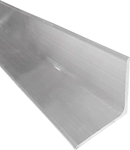 """1/"""" X 1/"""" 6061 aluminum angle 8/"""" long mill stock 1//8/"""" thick"""