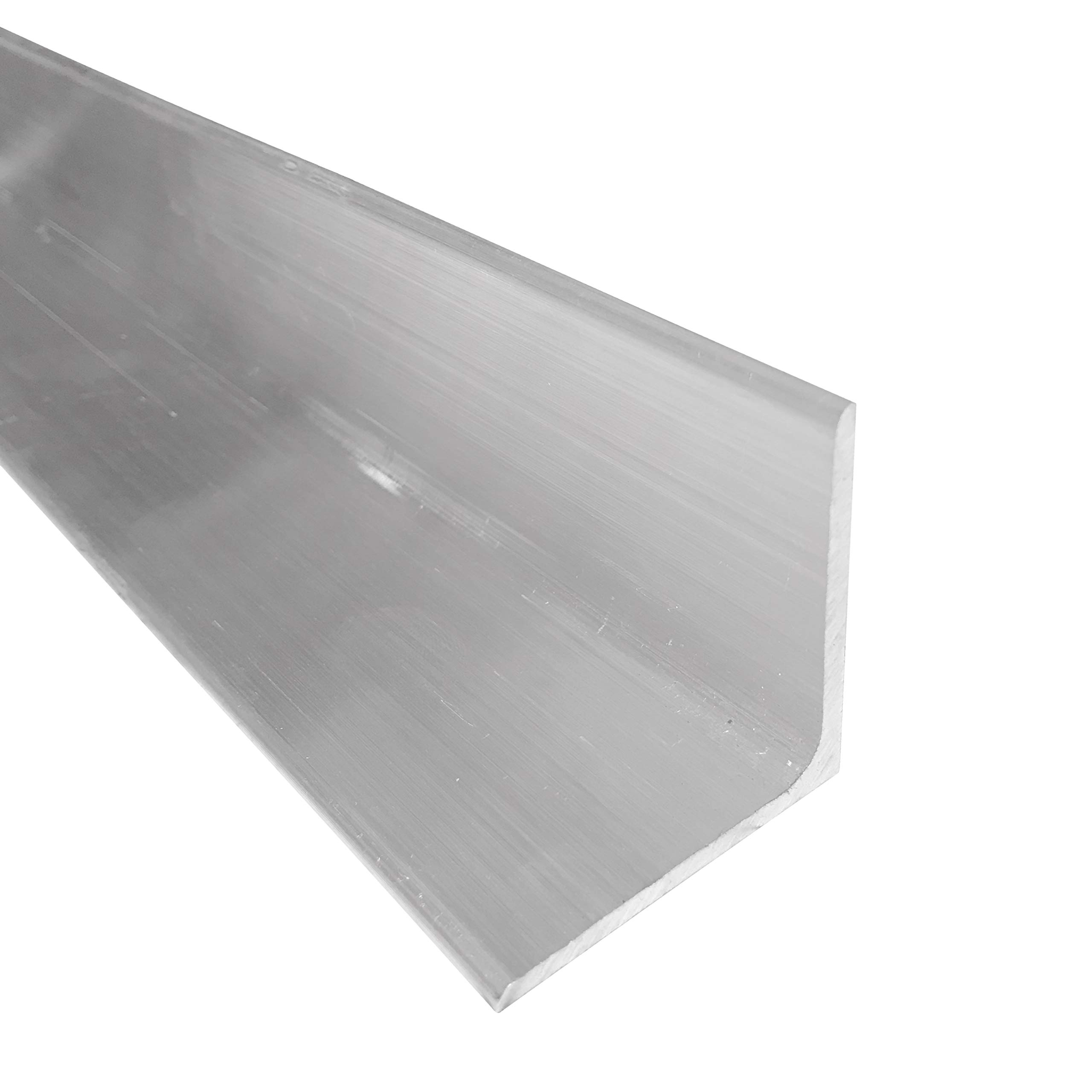 1-1/2'' x 1-1/2'' Aluminum Angle 6061, 12'' Length, T6511 Mill Stock, 1/8'' Thick by Remington Industries