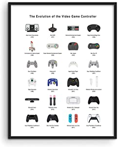 Retro Video Game Posters for Walls by Haus and Hues | Video Game Wall Art and Gamer Poster | Gamer Decor for Boys Room | Gamer Wall Art Video Game Print | Game Room Decor UNFRAMED (16x20)