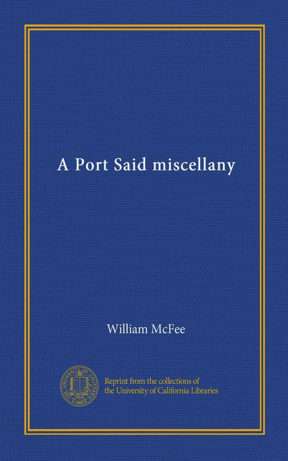 Download A Port Said miscellany pdf epub