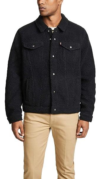 Levis Hombre Sherpa Face Trucker Jacket, Negro, XX-Large