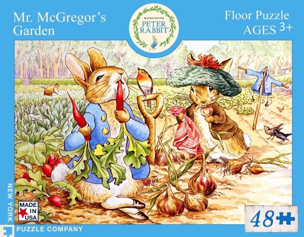 new york puzzle company rabbit mr mcgregor s