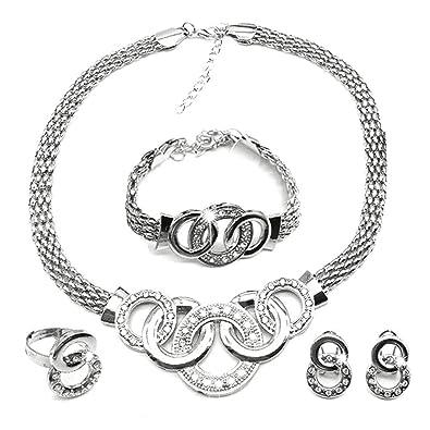 Amazon.com: Spiritlele - Juego de 4 joyas de cristal con ...