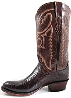 product image for Lucchese Men's Cowboy Boots 1883 Collection T6181 IC Brown Lizard/Brown Buffalo
