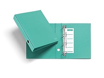 Miquelrius 20921 - Archivador nordic colors (cartón, 4 anillas tipo d de 40 mm diámetro) color laguna: Amazon.es: Oficina y papelería