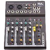 Seismic Audio - Slider4-4 Channel Mixer Console