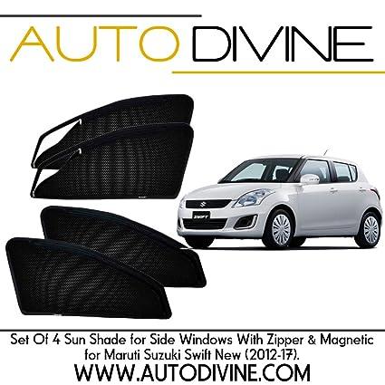 Maruti Suzuki Swift New, Car Accessories Side Window Zipper Magnetic ...