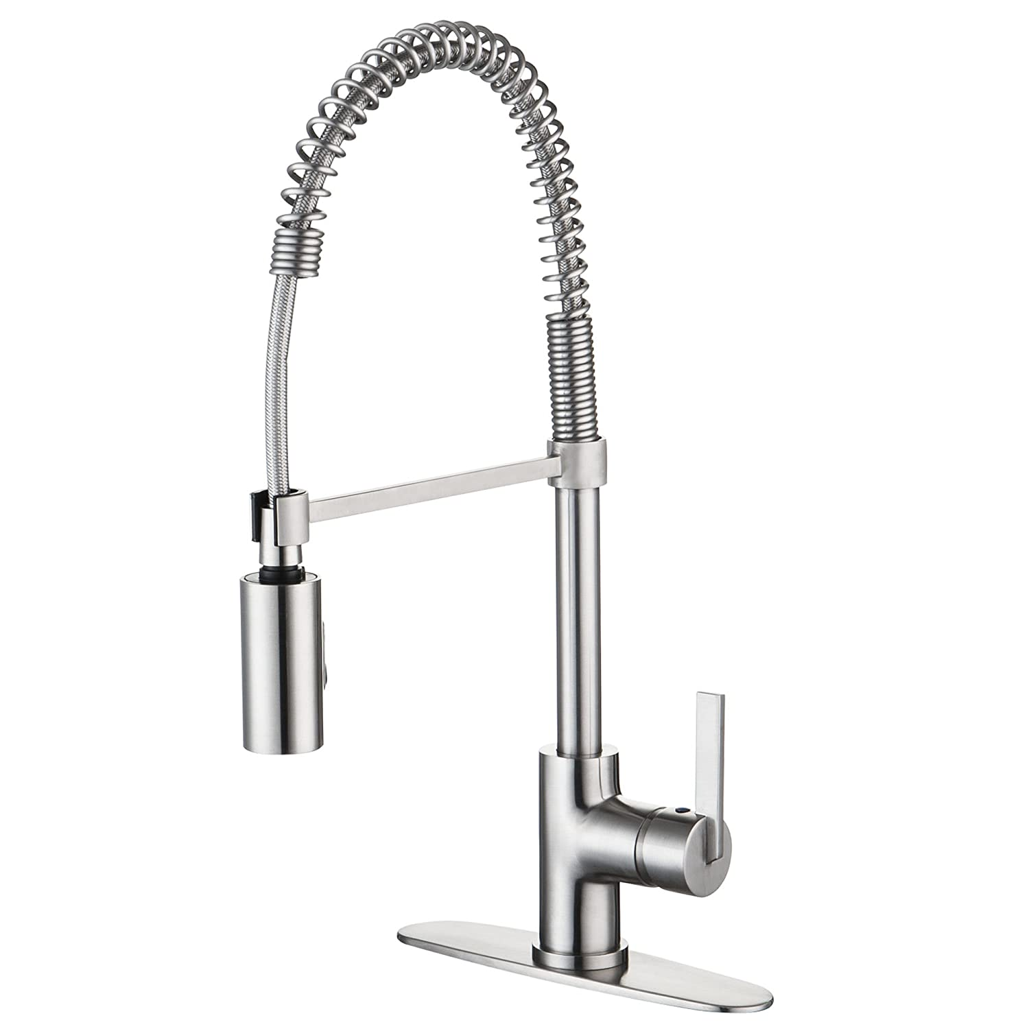 enzo rodi erfap modern commercial kitchen faucet with  - enzo rodi erfap modern commercial kitchen faucet with pulldownsprayer stainless steel   amazoncom