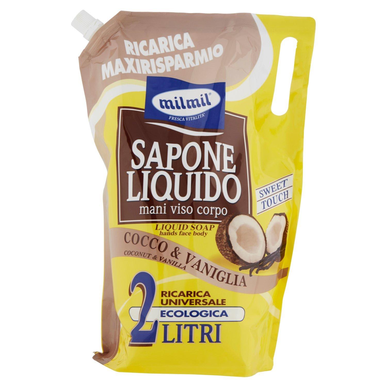 Milmil - Sapone Liquido, Cocco & Vaniglia, 2 l Mirato 007040