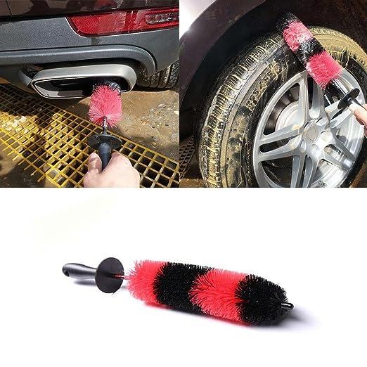 Wheel Brush Long Soft Car Wheel Brush Rim Tire Brush Multipurpose Use for Cars Motorcycles Bicycles Car Care