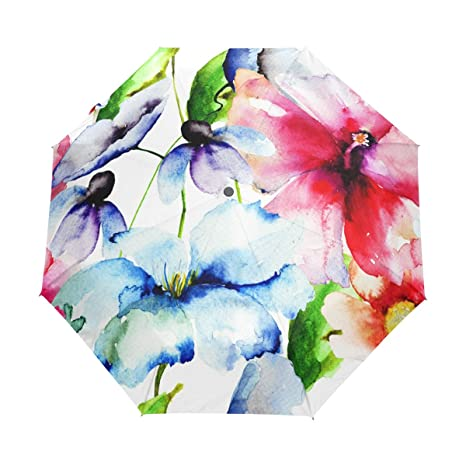 d103adac64f5 Amazon.com: JSTEL Beautiful Flowers Watercolor Painting Windproof UV ...