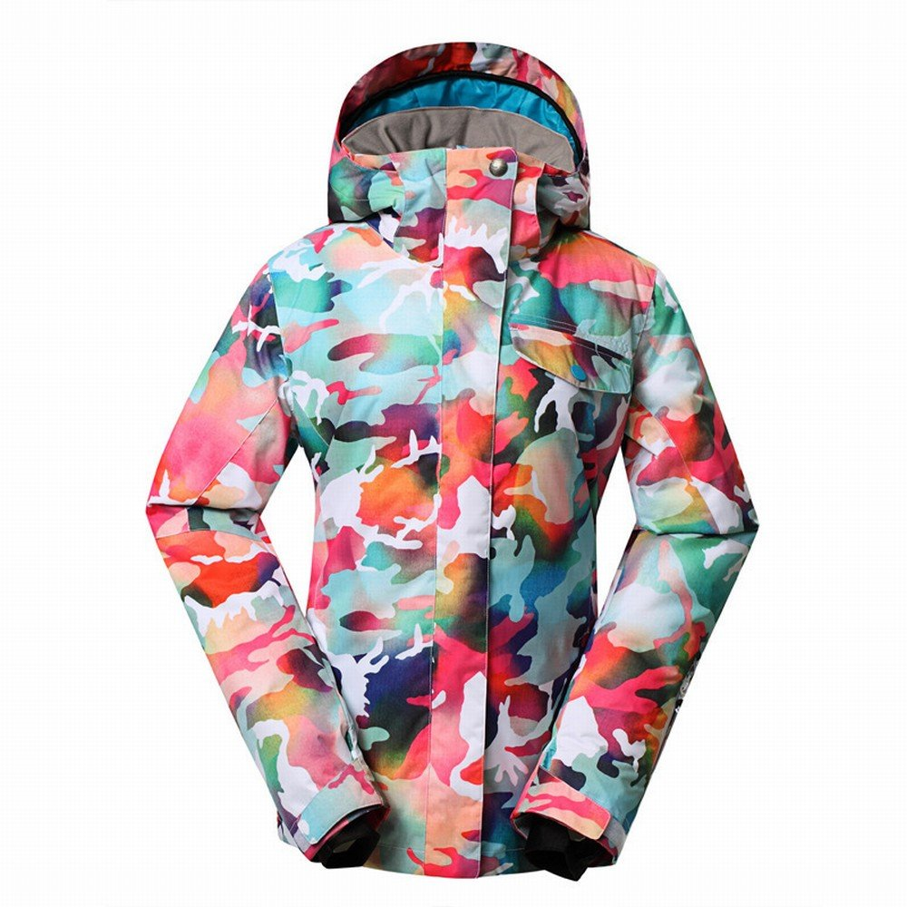 A Large STTS Outdoor Ladies Powder Camouflage Ski Suits Windproof Waterproof Wear Female Models Andes