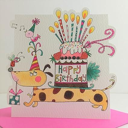 Tarjeta del feliz cumpleaños provenido: Amazon.es: Oficina y ...