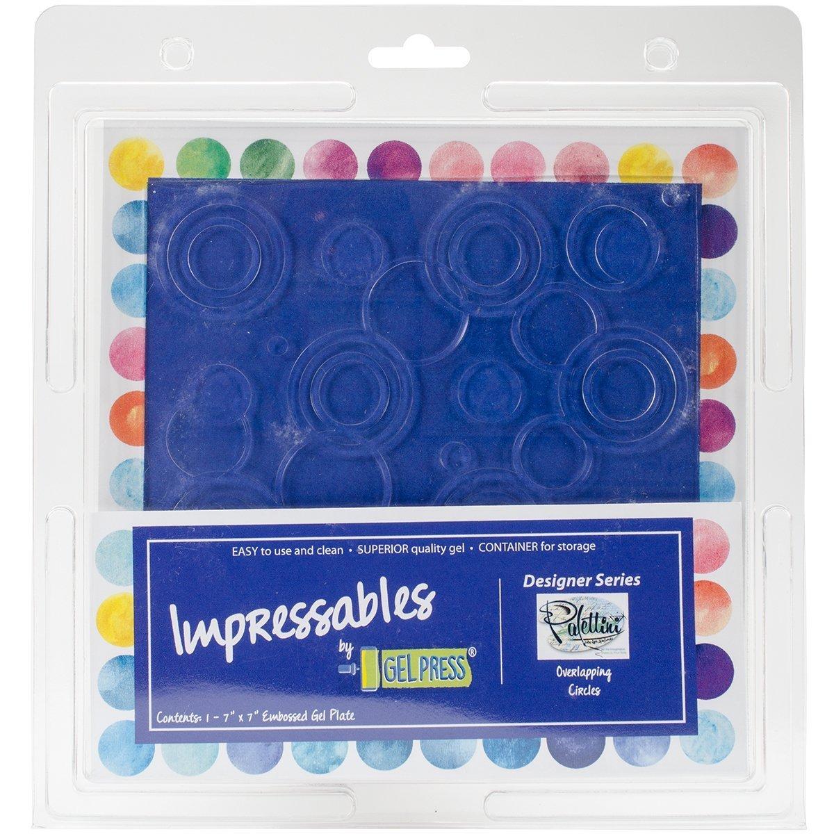 Gel Press Impressables 7'' Embossed Overlapping Circles Block Printing 10815-SLM-01