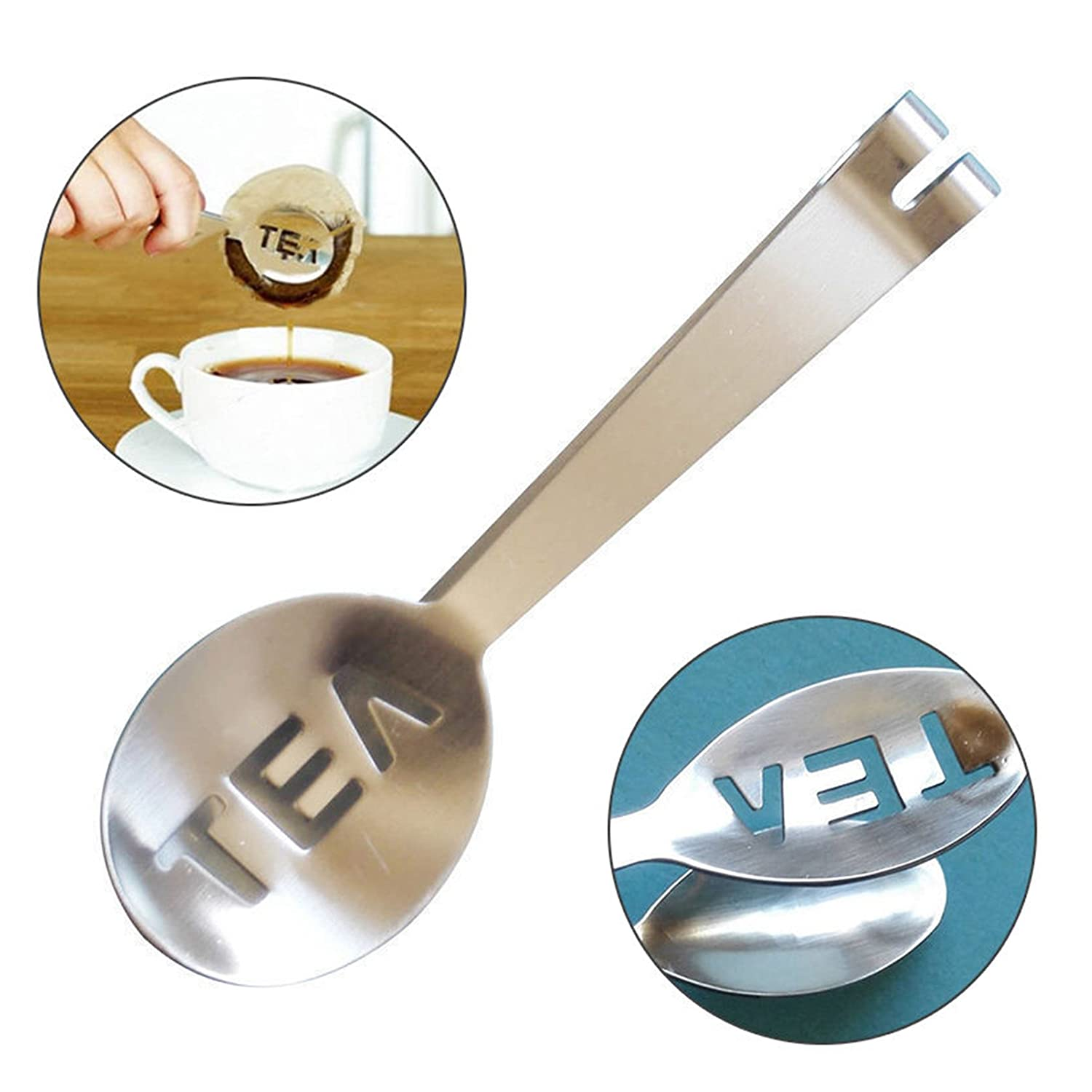 Toyofmine 1pcs Stainless Steel Teabag Tongs Tea Bag Squeezer Herb Grip Holder For Home Kitchen