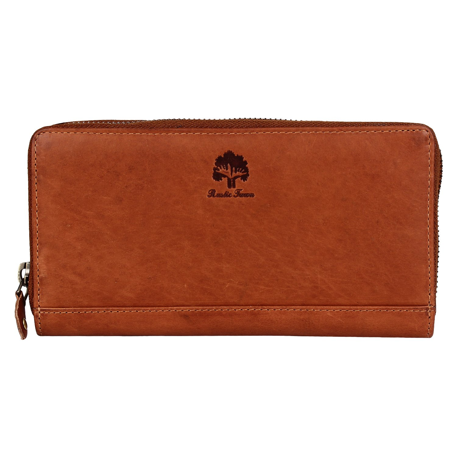 Leather Wallets for Women - RFID Blocking clutch purses for women by RusticTown