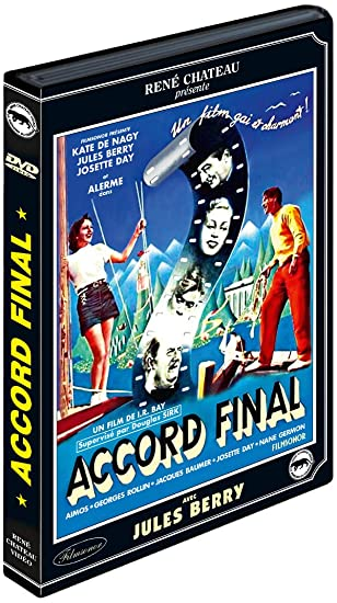 Accord final [Francia] [DVD]: Amazon.es: Berry, Jules, Day, Josette, Alerme, Andre, Sirk, Douglas, Berry, Jules, Day, Josette: Cine y Series TV