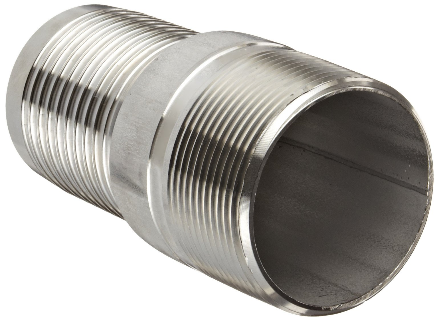 Dixon RST30 Stainless Steel 316 Hose Fitting, King Combination Nipple Threaded End with No Knurl, 2-1/2'' NPT Male x 2-1/2'' Hose ID Barbed