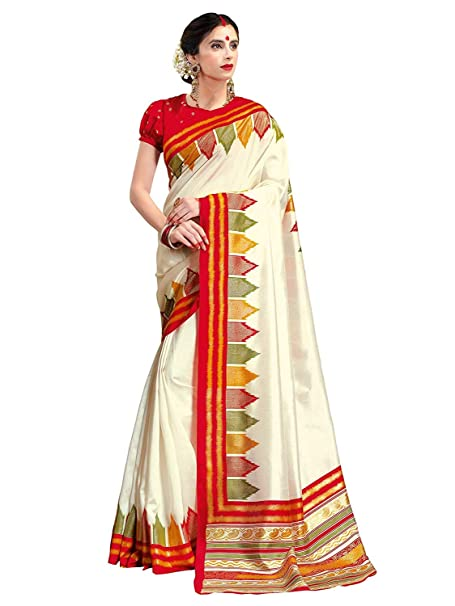 0b561f3a4273b9 Ethnic Typical Indian Traditional Patola Pattern Silk Saree with Stripes | Cream  Color Saree inpired by