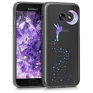 kwmobile Funda para Samsung Galaxy A3 (2017) - Carcasa de [TPU] para móvil y diseño de Hada en [Violeta/Menta/Transparente]