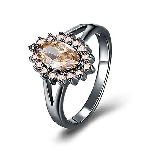 c3b96211e0d3 Blisfille Anillos Mujer Acero Prime Boda Anillo Compromiso Diamante Anillo  de Mujer Chapado en Oro