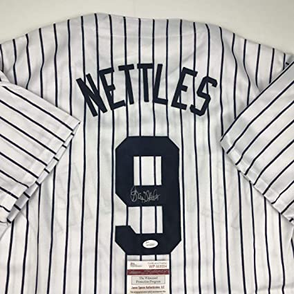 Image Unavailable. Image not available for. Color  Autographed Graig  Nettles Jersey ... 7f2901def40