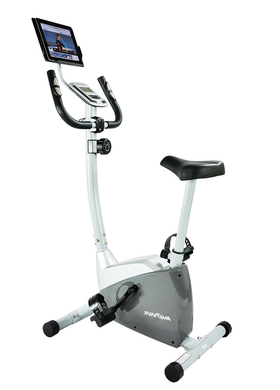 amazoncom innova health and fitness upright bike with ipadandroid tablet holder exercise bikes sports u0026 outdoors