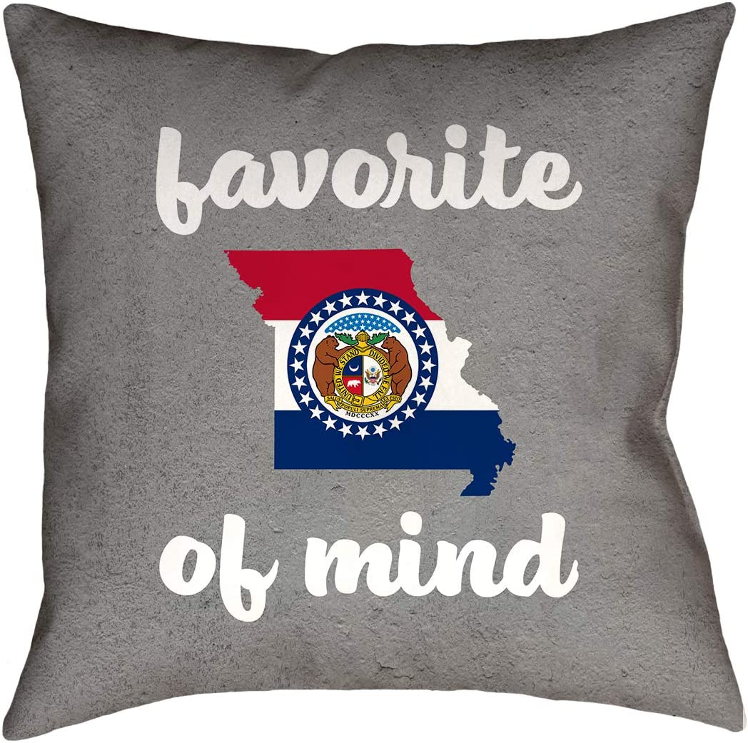 ArtVerse Katelyn Smith 14 x 14 Poly Twill Double Sided Print with Concealed Zipper /& Insert Missouri Pillow