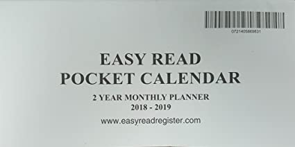 2 year monthly planner pocket calendar 3x6 inches 2018 2019 fits standard