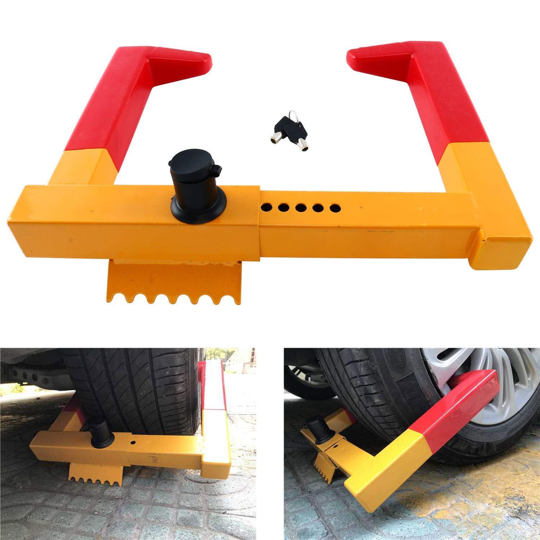 Car Wheel Lock,Anti Theft Tire Lock Clamp Boot Tire Claw Parking Car Truck RV Boat Trailer