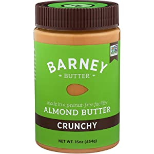 BARNEY Almond Butter, Crunchy, Paleo Friendly, KETO, Non-GMO, Skin-Free, 16 Ounce