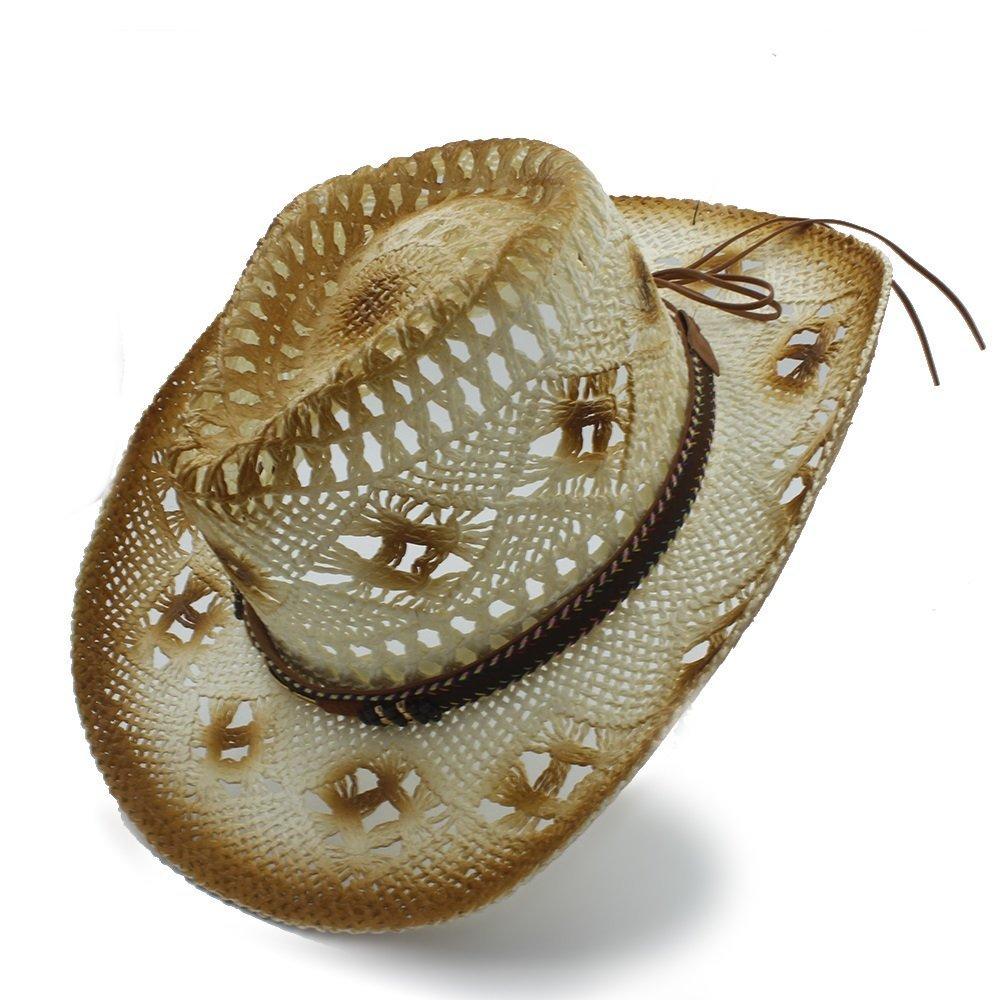 Achun Mütze Frauen Männer Handarbeit Stroh Western Sombrero Cowboy Hüte (