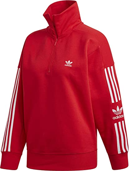 adidas Originals Damen Pullover Lock Up rot 38: