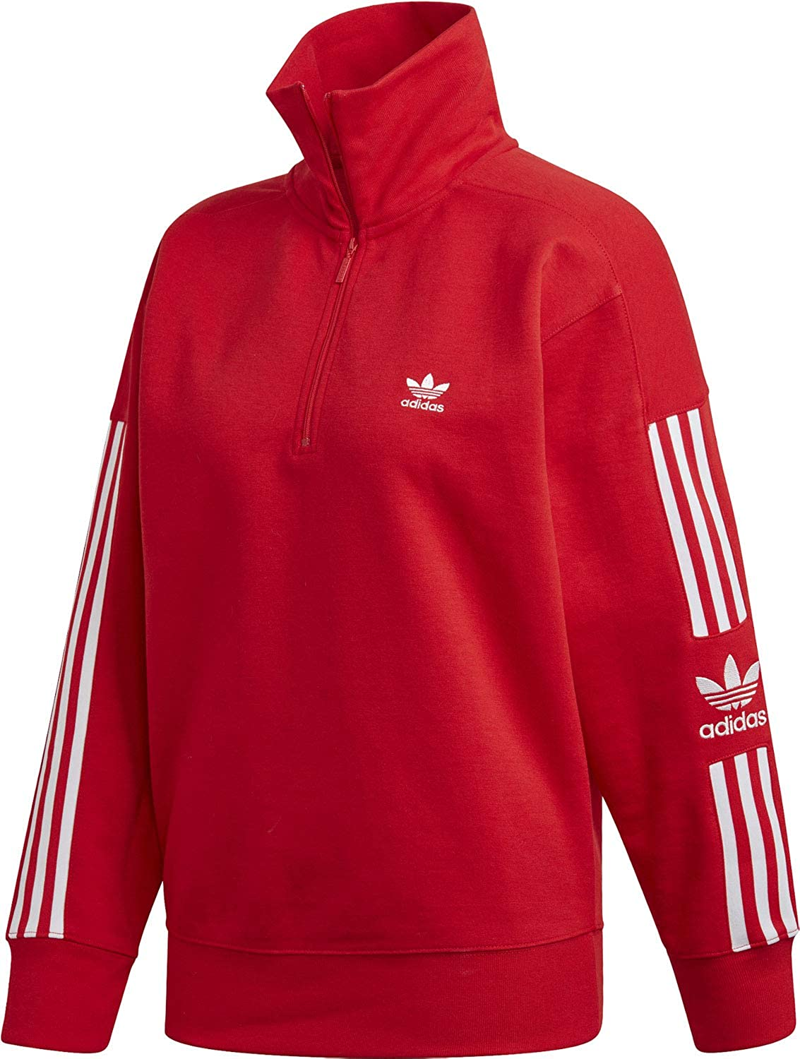 adidas Originals Damen Pullover Lock Up rot 34: