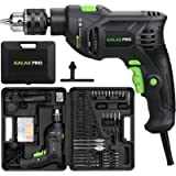 GALAX PRO 5Amp 1/2-inch Corded Impact Drill with 105pcs Accessories, Variable Speed 0-3000, Hammer and Drill 2 Functions…