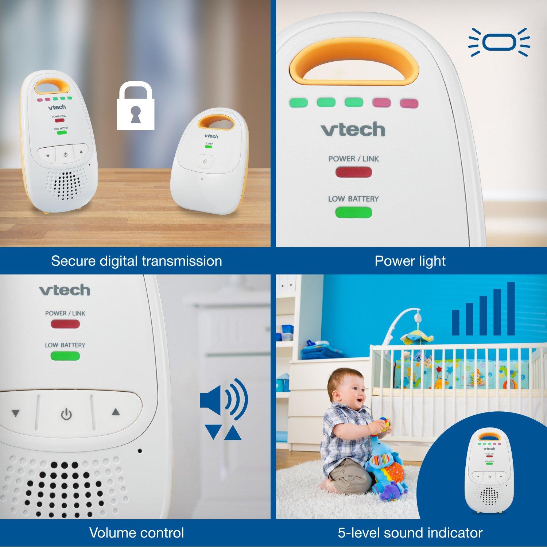 VTech DM111 Audio Baby Monitor with up to 1,000 ft of Range, 5-Level Sound Indicator, Digitized Transmission & Belt Clip by VTech (Image #5)