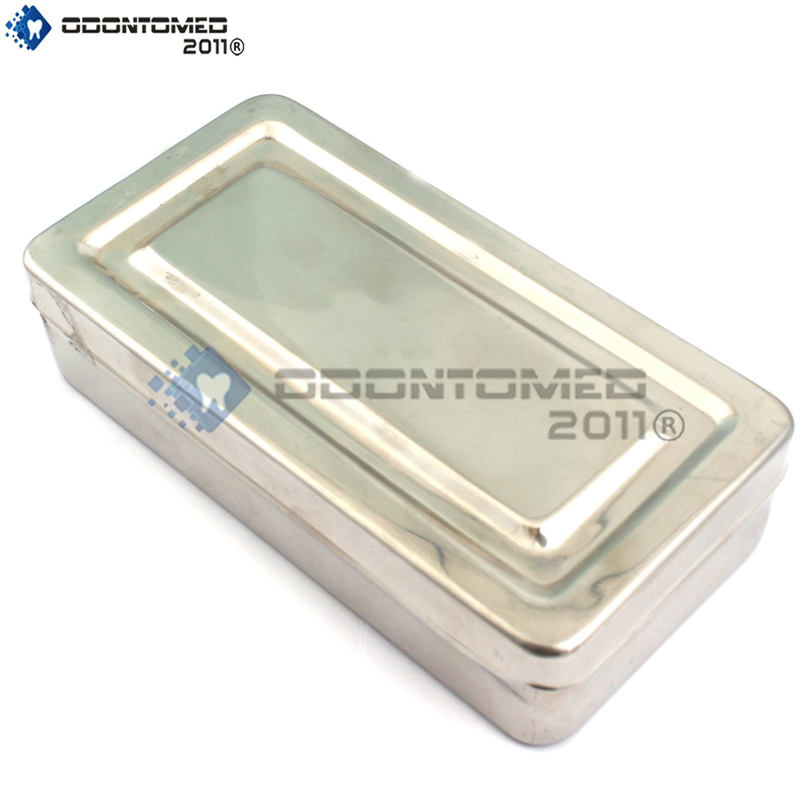 OdontoMed2011® 7''X3''X1.5'' INSTRUMENTS BOX STAINLESS STEEL HIGH QUALITY TRAY ODM