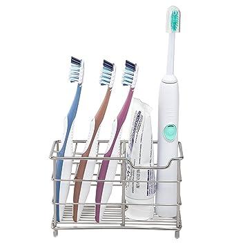 Amazon.com: Amazer soporte para cepillos de dientes de acero ...